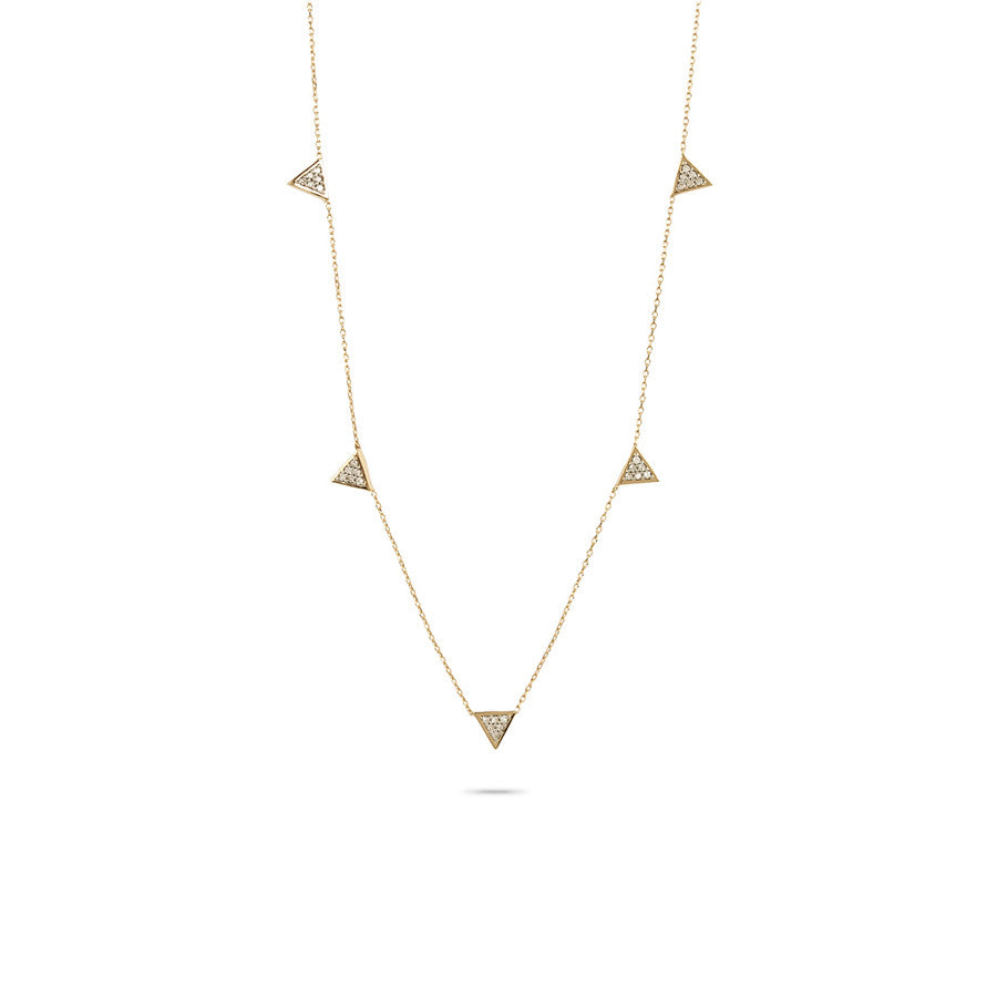 Adina Reyter Super Tiny Solid Pave Triangle Necklace IiBOtWaa7