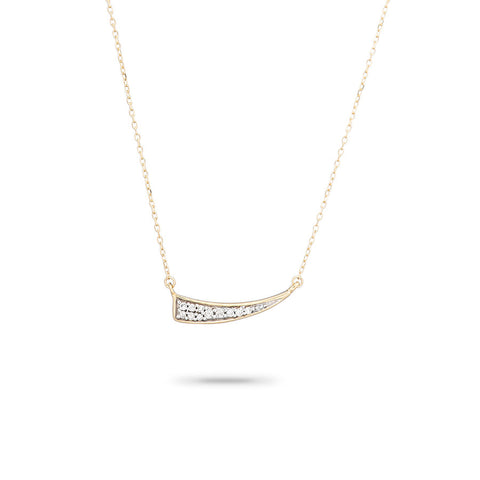 Small Pavé Tusk Necklace