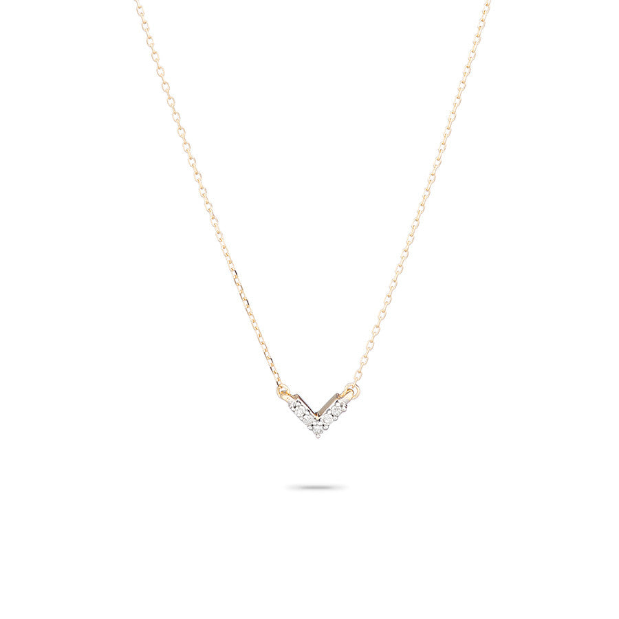 Super Tiny Pavé V Necklace