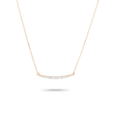 Small Pavé Curve Necklace