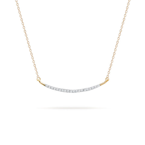 Large Pavé Curve Necklace