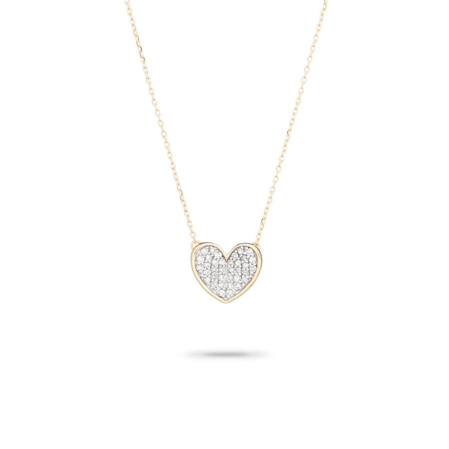 heart charm necklace diamond centres dancing product
