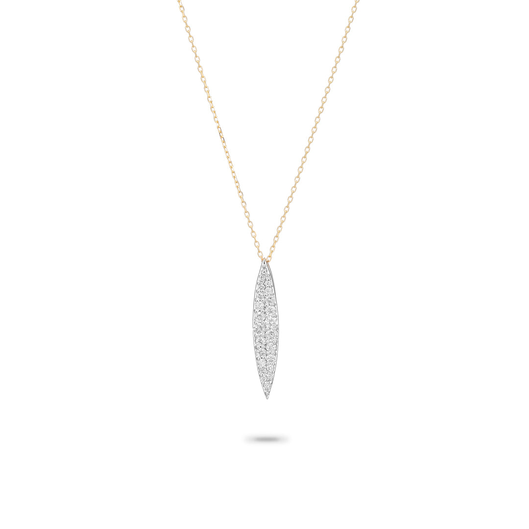Small Pavé Marquise Necklace