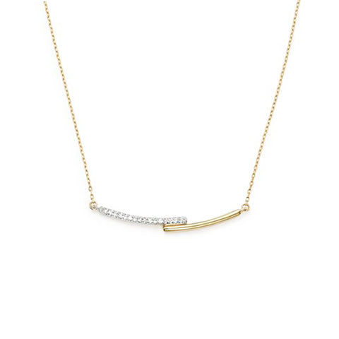 Pavé Crossover Curve Necklace