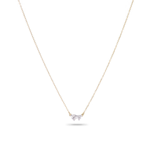 Tiny 2 Diamond Amigos Necklace