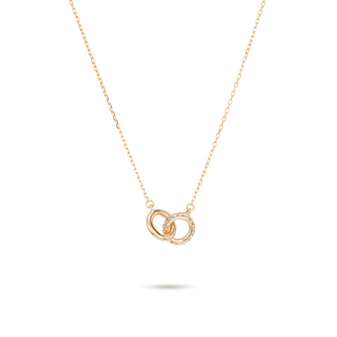 Pavé Interlocking Loop Necklace