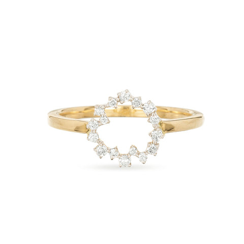 Small Scattered Diamond Circle Ring