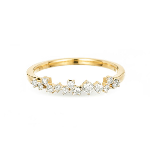 Extended Scattered Diamond Ring