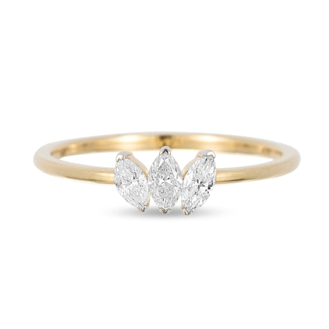 Grace 3 Marquise Ring