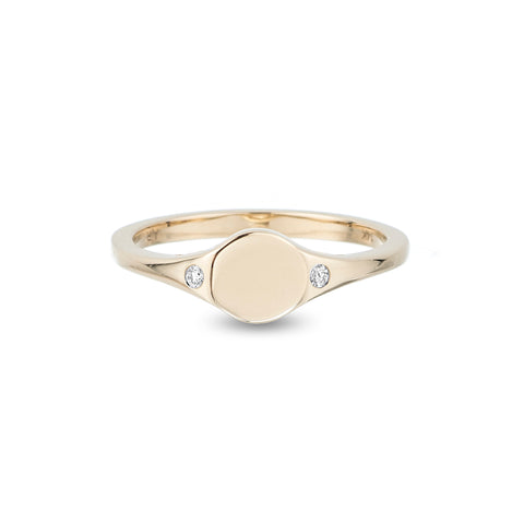 Small Disc Signet Ring