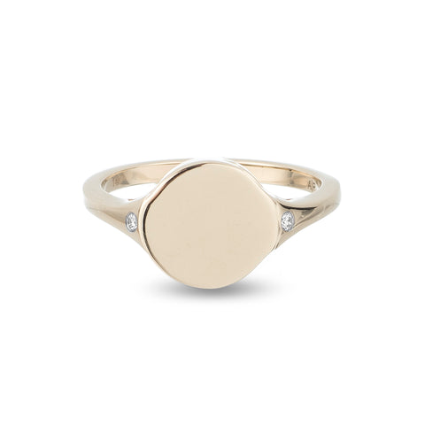 Large Disc Signet Ring