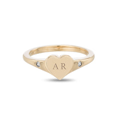 Small Heart Signet Ring