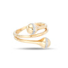 Pavé Orbit Double Wrap Ring