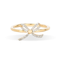 Tiny Pavé Bow Ring