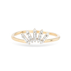 Stack Baguette Curve Ring