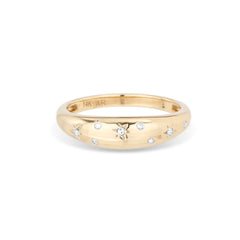 Celestial Diamonds Small Half Dome Ring