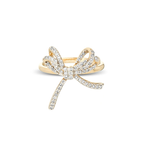 Large Pavé Bow Ring