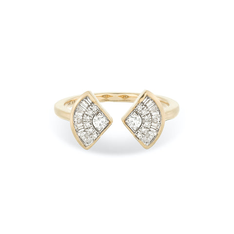 Deco Baguette Fan Ring