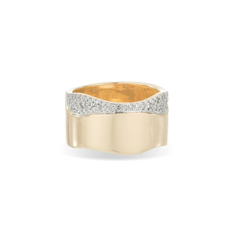 Pavé Wave Cigar Ring