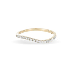 Pavé Baby Swell Wave Ring