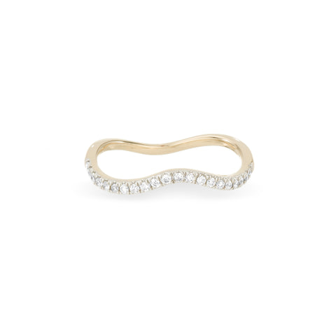 Pavé Peak Wave Ring