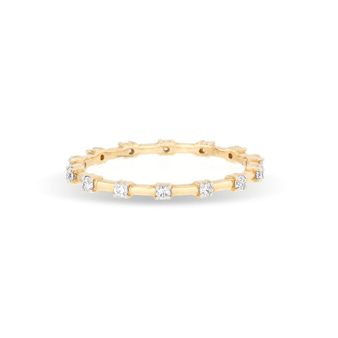 Diamond Station Eternity Band Ring