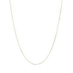 14k Gold 0.5mm Diamond Cut Cable Chain