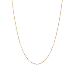 14k Gold 1mm Diamond Cut Cable Chain