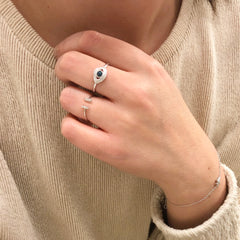 Open Stack Baguette Ring