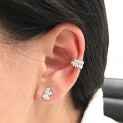 Short Stack Baguette Ear Cuff