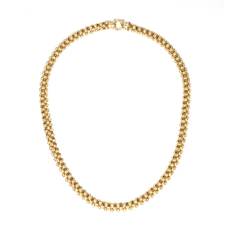 Diamond Cut Chunky Chain Necklace