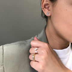 Pavé Teardrop + Marquise Cluster Ring