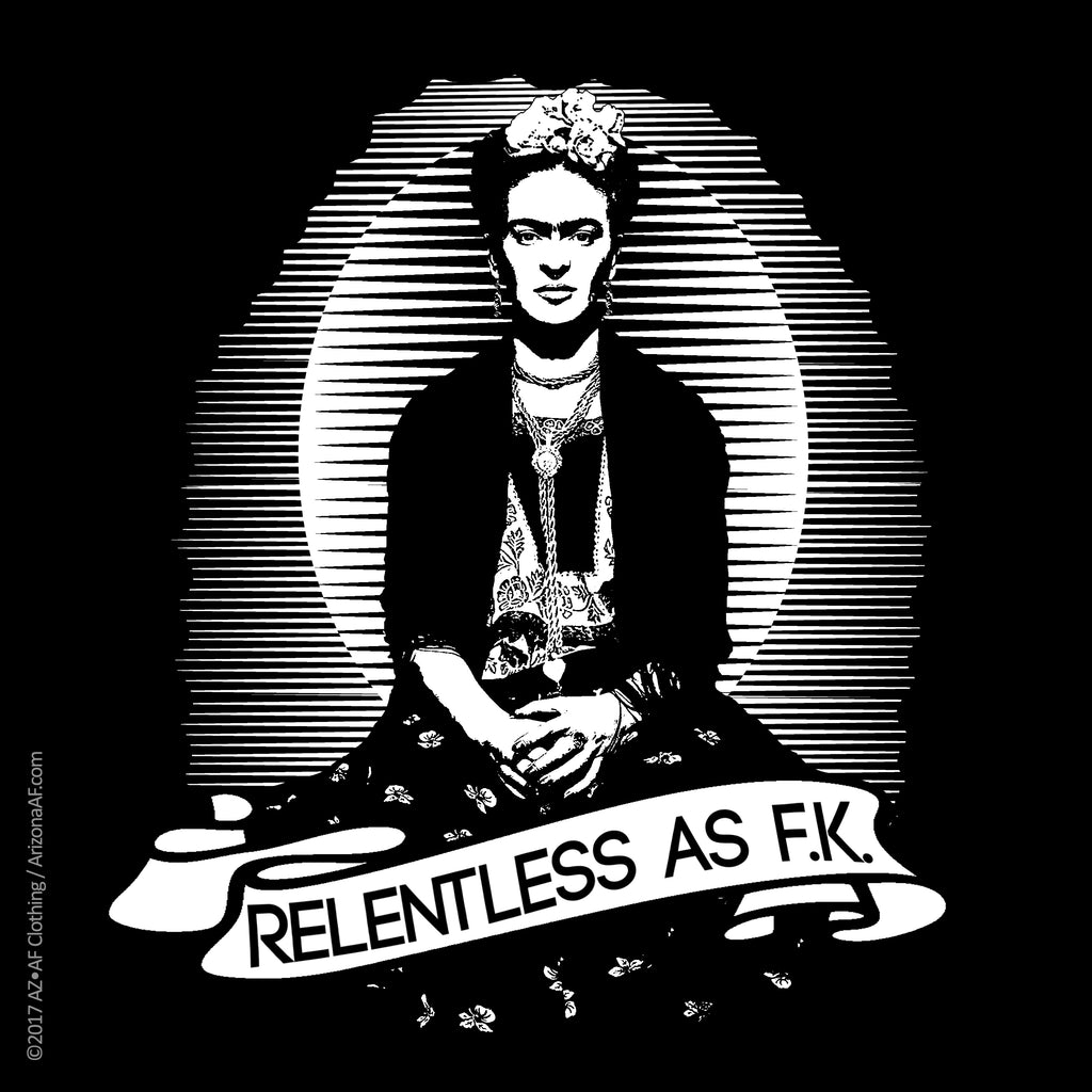 Relentless as F.K. Sticker - AZ•AF Clothing - Local Apparel