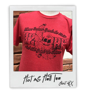 'Hot as Hell' unisex/ mens tee - AZ•AF Clothing - Local Apparel