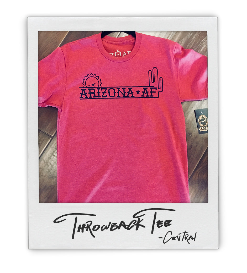 AZAF Throwback Mens (uni) Tee - AZ•AF Clothing - Local Apparel