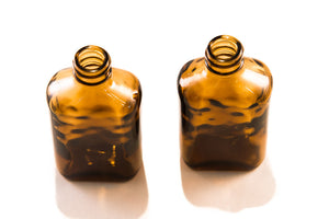 zz   Glass Bottles with cap - Griffo Botanicals