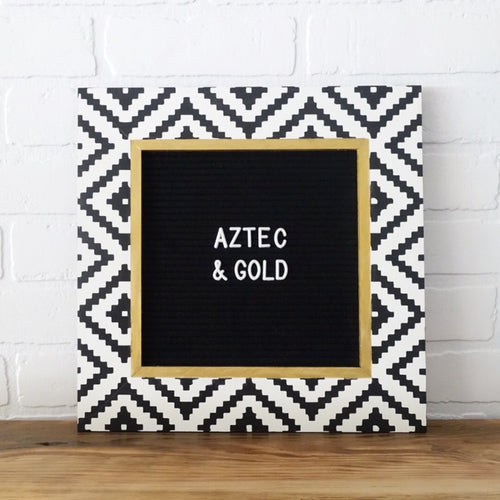 Aztec w/ Gold - Classic Frame - Letter Board - Small