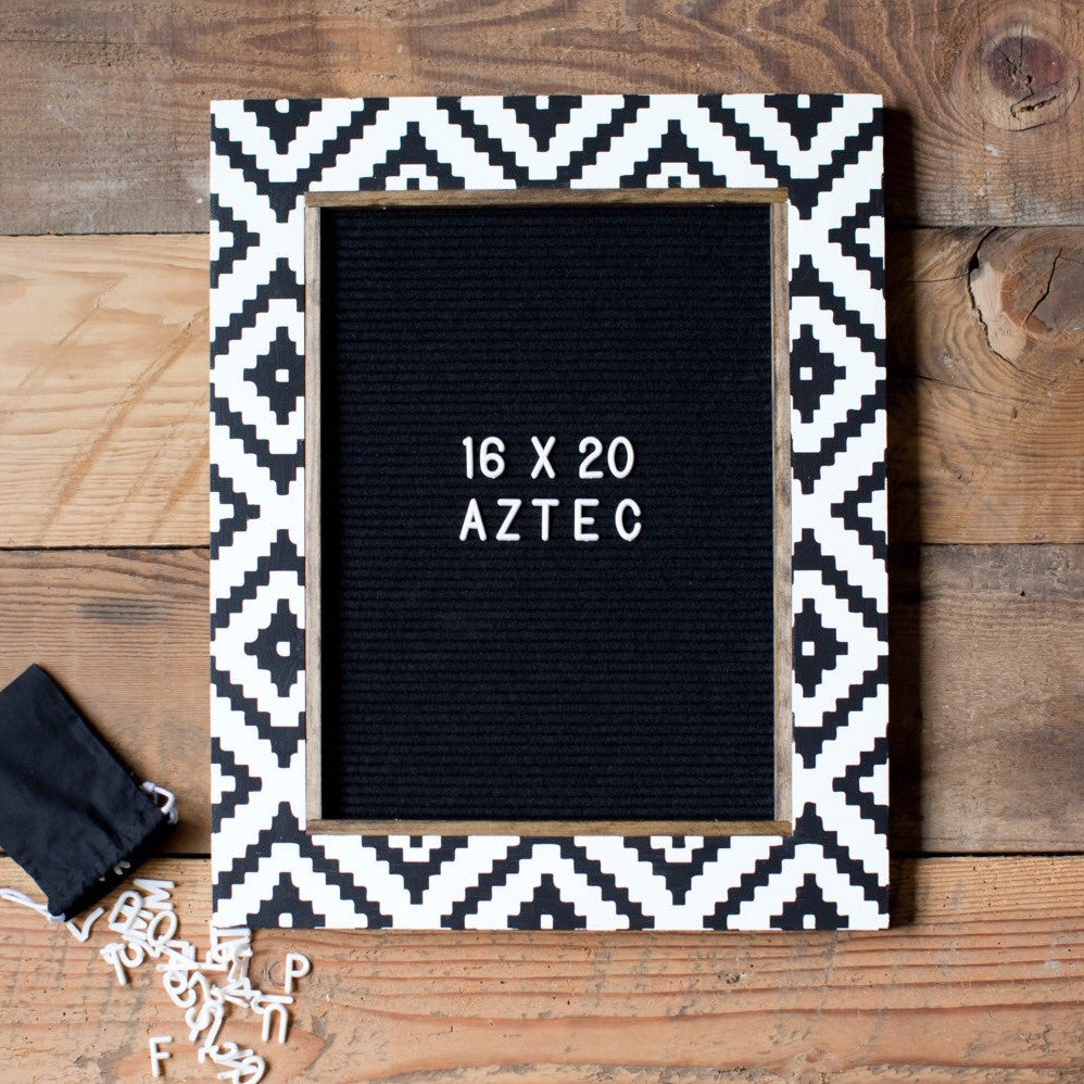 Aztec - Classic Frame - Letter Board - Large