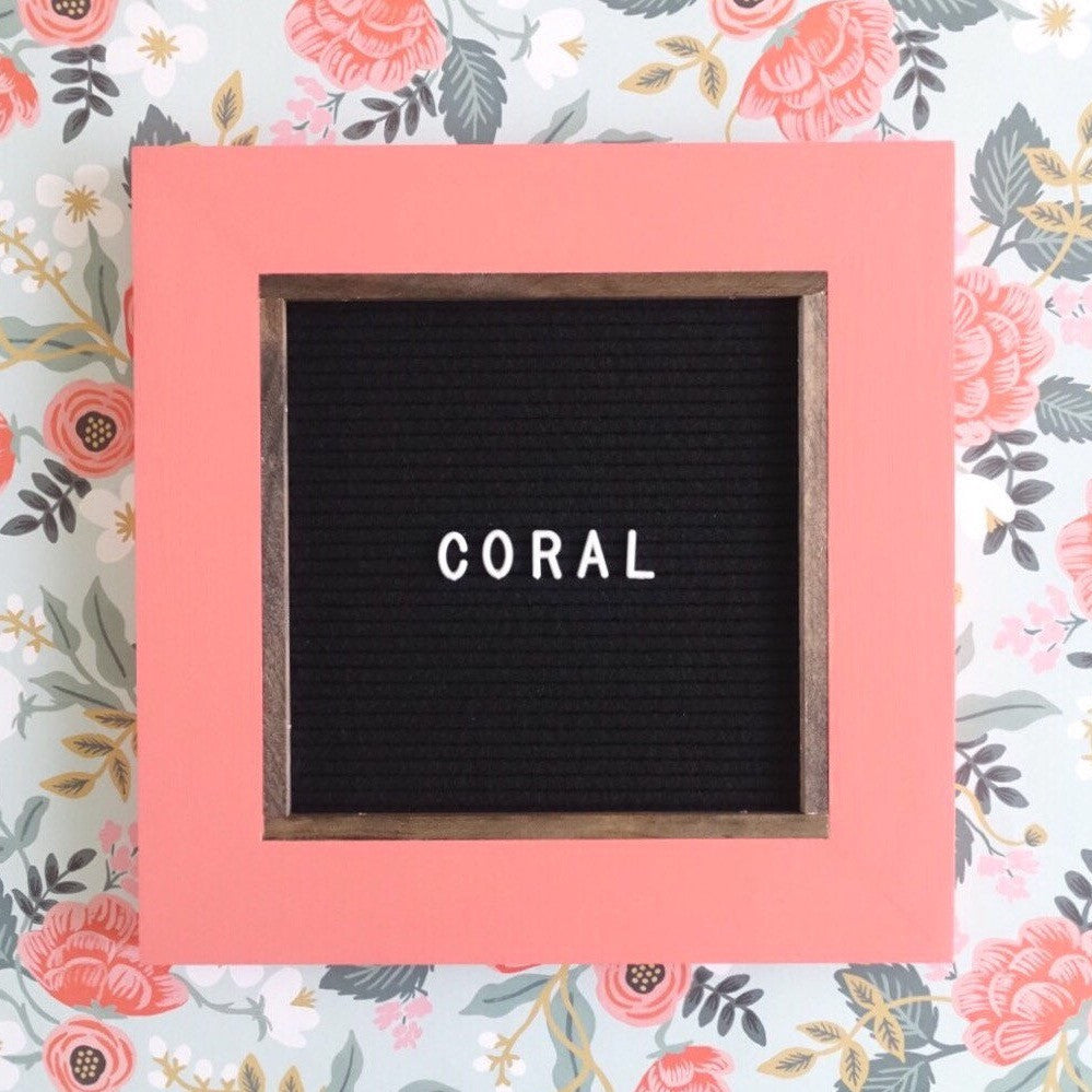 Coral - Classic Frame - Letter Board - Small