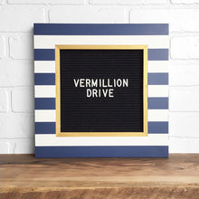 Stripe & Gold - Classic Frame - Letter Board - Small