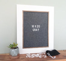 White with Gray or Black Felt - Classic Frame - Letter Board - Large
