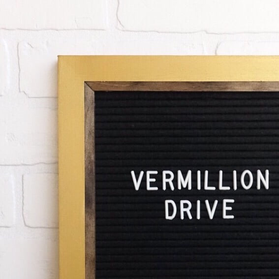 Metallic Gold - Chic Frame - Letter Board - Large