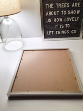 White Frame 12x18 - Letter Board - Gray Felt - Mod Collection