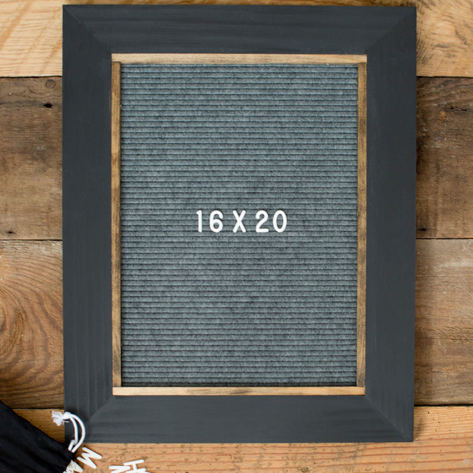 Black w/ Gray - Classic Frame - Letter Board - Large