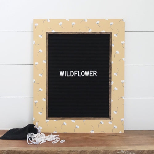 Wildflower - Classic Frame - Letter Board - Large