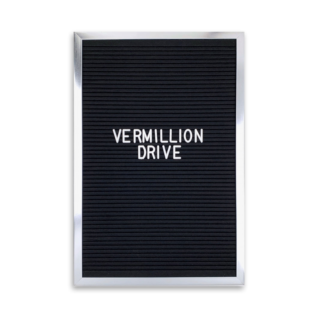 Silver Frame 12x18 - Letter Board - Black Felt - Mod Collection