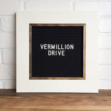 White - Classic Frame - Letter Board - Small