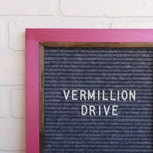 Metallic Fuchsia - Chic Frame - Letter Board - Large