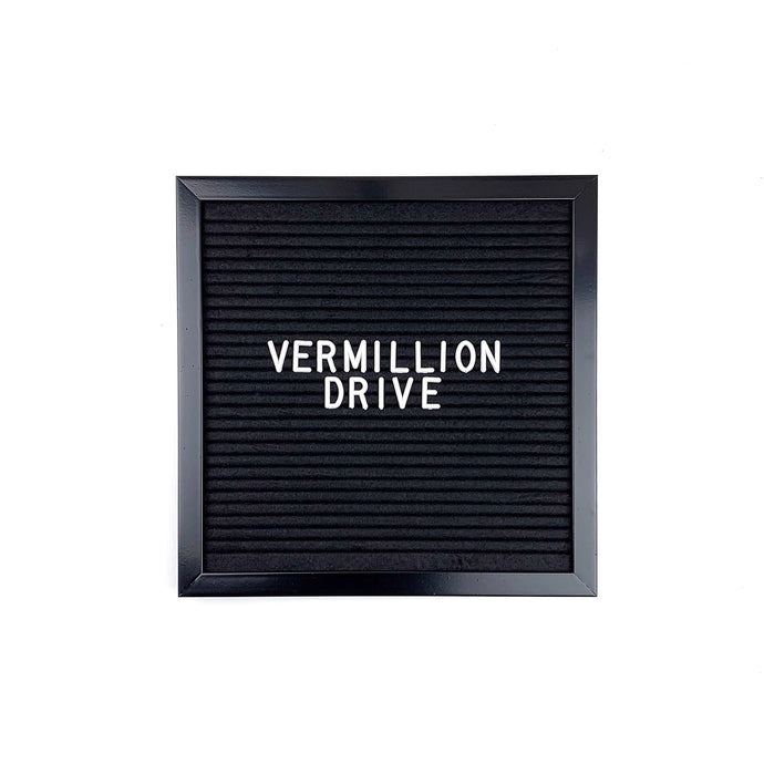 Black Frame - Letter Board - Black Felt - Mod Collection