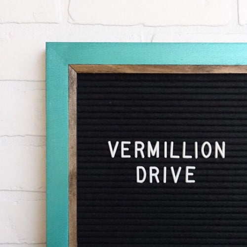 Metallic Teal - Chic Frame - Letter Board - Large